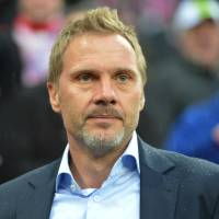 Photo - FILE - The March 30, 2013 file photo shows Hamburg's head coach Thorsten Fink prior to the German first division Bundesliga soccer match between FC Bayern Munich and Hamburger SV  in Munich, Germany. German media reports said Tuesday, Sept. 17, 2013 Hamburger SV has fired Thorsten Fink as coach following the team's disappointing start to the Bundesliga. (AP Photo/Kerstin Joensson)