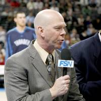 Photo - Thunder play-by-play announcer Brian Davis. PHOTO BY BRYAN TERRY, THE OKLAHOMAN ARCHIVES  BRYAN TERRY - THE OKLAHOMAN