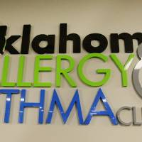 Photo - Sign in the offices of the Oklahoma Allergy and Asthma Clinic in Oklahoma City Thursday, Nov. 14, 2013.  Photo by Paul B. Southerland, The Oklahoman