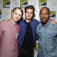 Photo - Dane DeHaan, Andrew Garfield and Jamie Foxx are pictured at Sony Pictures Presentation at the 2013 Comic-Con in San Diego. AP Photo  Eric Charbonneau - Invision for Sony Pictures