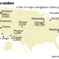 Photo - By the numbers - Site of major immigration reform protests MAP / GRAPHIC