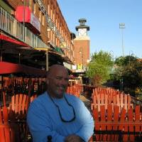 Photo - Norm Bekoff, recently opened up Captain Norm's Dockside Bar along the Bricktown Canal.  Steve Lackmeyer