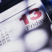 Photo -  Friday the 13th occurs this month, the only time it will occur in 2014.   Stockbyte -  Getty Images
