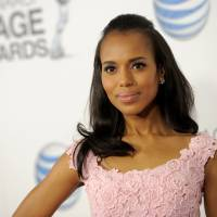 Photo - Kerry Washington arrives at the 44th Annual NAACP Image Awards at the Shrine Auditorium in Los Angeles on Friday, Feb. 1, 2013. (Photo by Chris Pizzello/Invision/AP)