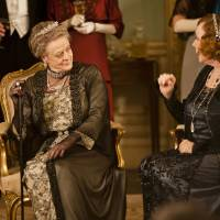 Photo - This undated publicity photo provided by PBS shows Maggie Smith as the Dowager Countess, left, and Shirley MacLaine as Martha Levinson from the TV series,