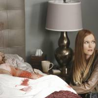 Photo - This TV publicity image released by ABC shows Darby Stanchfield, right, in a sscene from the series