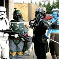 Photo -  Fans dressed as Star Wars characters celebrate Free Comic Book Day. Photo provided by Diamond Comic Distributors