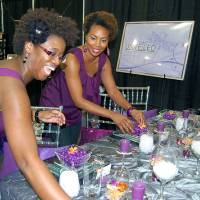 Photo - Wedding planners Brandi Scott (left) and Trenesha Simpkins of Unveiled say brides of every age want their weddings to define who they are. Photo by Annette Price