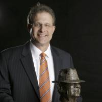 Photo - Auburn coach Gus Malzhan, a finalist for the Paul
