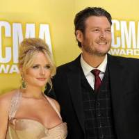 Photo -  Tishomingo couple Miranda Lambert and Blake Shelton appear at the 2012 CMA Awards. (AP file)