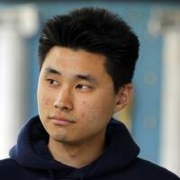 Photo -   Daniel Chong appears at a news conference where he discussed his detention by the DEA during a news conference on May 1, 2012 in San Diego. Chong, a U.S. college student, was forgotten by federal drug agents and left in a holding cell for five days without food, water or access to a toilet says he drank his own urine to survive. The 24-year-old engineering student at University of California, San Diego, was swept up as one of nine suspects in an April 21 drug raid that netted 18,000 ecstasy pills, other drugs and weapons. Chong said federal Drug Enforcement Administration agents told him he would be released. (AP Photo/U-T San Diego, K.C. Alfred) SAN DIEGO COUNTY OUT; NO SALES; COMMERCIAL INTERNET OUT; FOREIGN OUT
