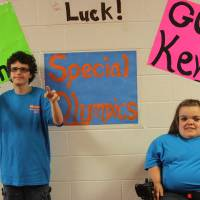Photo - Nathan Brantley, 7th grade, and Kevlyn Patton, 8th grade, were given a