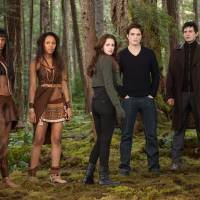 Photo - FILE- This undated file photo provided by Summit Entertainment shows, from left, Judith Shekoni, Tracey Heggins, Kristen Stewart, Robert Pattinson, Christian Camargo, Peter Facinelli and Casey LaBow in a scene from the film