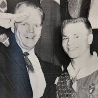 Photo - Above: This is a copy  of an early 1960s photo of Paul Harvey  with Hal Yocum.