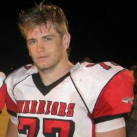 Photo - Evan Pendleton now plays football at Washington High School and will graduate next month.  Photo provided