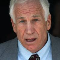 Photo -   FILE - In this June 21, 2012 file photo, former Penn State University assistant football coach Jerry Sandusky leaves the Centre County Courthouse in Bellefonte, Pa. Sandusky should be sent to prison for life when a judge sentences him Tuesday, Oct. 9, 2012, according to several of the jurors who convicted the former Penn State assistant coach of molesting several boys over a period of years. (AP Photo/Gene J. Puskar)