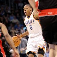 Photo - Hand-check rules benefit point guards like Russell Westbrook Photo by John Clanton, The Oklahoman