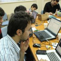 Photo - A team of programmers works at one of the locations during last year's International Space Apps Challenge. PHOTO PROVIDED.
