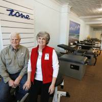 Photo -  Jerry and Barbara Brown, owners of Core Strong Fitness, are seen Wednesday at the business in Bethany. Photo By Steve Gooch, The Oklahoman   Steve Gooch -  The Oklahoman