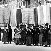 Photo - Suffragettes march for equal rights during a demonstration in Washington, D.C., in 1917.   - THE ASSOCIATED PRESS