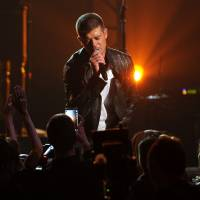 Photo - Robin Thicke performs on stage at the Billboard Music Awards at the MGM Grand Garden Arena on Sunday, May 18, 2014, in Las Vegas. (Photo by Chris Pizzello/Invision/AP)