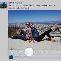 Photo -   This undated image provided by Facebook shows the new feature Facebook announced Wednesday, Oct. 3, 2012, that lets users pay to promote their posts to friends, just as advertisers do. Facebook has been testing the service in New Zealand, where it tries out a lot of new features, and has gradually introduced it in more than 20 other countries. Facebook says promoting a post will bump it higher in your friends' news feeds. (AP Photo/Facebook)