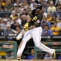 Photo - Pittsburgh Pirates' Gregory Polanco hts a three-run home run against the New York Mets in the fifth inning of a baseball game Thursday, June 26, 2014, in Pittsburgh. (AP Photo/Keith Srakocic)