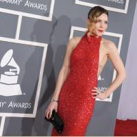 Photo - Skylar Grey arrives at the 55th annual Grammy Awards on Sunday, Feb. 10, 2013, in Los Angeles.  (Photo by Jordan Strauss/Invision/AP)