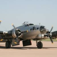 Photo - The Experimental Aircraft As? sociation, of Oshkosh,  Wis, offers rides  on this World War II-era B-17 bomber, with a par? ticular focus on giving vet? erans a chance to experi? ence history. Photo provided