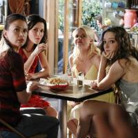 """Photo -  BUNHEADS - """"Money for Nothing"""" - Michelle finds out more about Fanny's financial troubles in """"Money For Nothing,"""" an all-new episode of ABC Family's original series """"Bunheads,"""" airing Monday, July 16th (9:00 - 10:00 PM ET/PT). (ABC FAMILY/RON TOM) SUTTON FOSTER, JULIA GOLDANI TELLES, BAILEY BUNTAIN, EMMA DUMONT"""