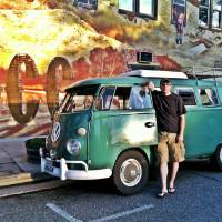 Photo - Greg Triebel, of Colorado Springs, is pictured in this recent photo with his own Volkswagen van. In 2007, Triebel helped another Volkswagen van on a cross country journey get out of Oklahoma CIty when it broke down.  Provided - Provided by Greg Triebel