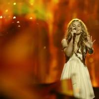 Photo - Emmelie de Forest of Denmark performs her song Only Teardrops during the final of the Eurovision Song Contest at the Malmo Arena in Malmo, Sweden, Saturday, May 18, 2013. The contest is run by European television broadcasters with the event being held in Sweden as they won the competition in 2012. (AP Photo/Alastair Grant)
