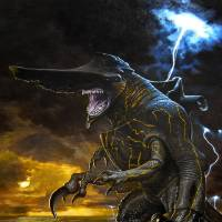 """Photo -  This conceptual art image released by Warner Bros. Pictures shows the Knifehead monster from the film, """"Pacific Rim."""" """"Pacific Rim"""" fulfills a very basic boyhood fantasy: big ol' robots and giant monsters slugging it out. The concept to Guillermo del Toro's """"Godzilla""""-sized film is about as simple as it gets, but actually constructing such mammoth creations is a far more arduous undertaking.  (AP Photo/Warner Bros. Pictures) ORG XMIT: NYET529"""