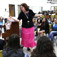Photo - Edmond Public Schools' teacher of the year Angie McKenna teaches a choral music class on Wednesday at Sequoyah Middle School. Photo by Doug Hoke, The Oklahoman  DOUG HOKE - THE OKLAHOMAN