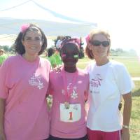 Photo - Leslie Littlejohn, left, at the 2011 Girls on the Run event. PHOTO PROVIDED