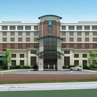 Photo - Plans for a $25 million, 194-room Embassy Suites hotel planned for NE 8 and Phillips Avenue are shown in this rendering.  Provided