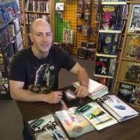 "Photo -  Don Rosencrans of ""Welcome to Ralton"" at Speeding Bullet Comics on FCBD."