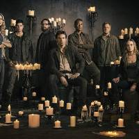 Photo -  REVOLUTION -- Season: 2 -- Pictured: (l-r) Elizabeth Mitchell as Rachel Matheson, JD Pardo as Jason Neville, Zak Orth as Aaron Pittman, Billy Burke as Miles Matheson, Giancarlo Esposito as Major Tom Neville, Stephen Collins as Dr. Gene Porter, Tracy Spiridakos as Charlie Matheson, David Lyons as Gen. Sebastian Monroe -- (Photo by: Nino Munoz/NBC)