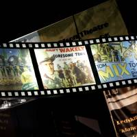 Photo - Vintage movie posters such as these are displayed throughout the