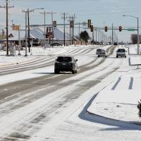 Photo - Looking east on 164 St. to the Pennsylvania Ave. intersection on Tuesday.  David McDaniel - The Oklahoman