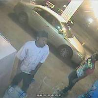 Photo -  Police released surveillance photos of three men wanted in connection with the fatal shooting Sunday of a pregnant woman in northeast Oklahoma City. Photo provided