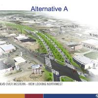 Photo - The Oklahoma City Council is set to make its final decision Tuesday on a revised plan for the downtown boulevard that would navigate the Western-Classen-Reno corridor with a shorter overpass than was previously proposed. Provided by the city of Oklahoma City