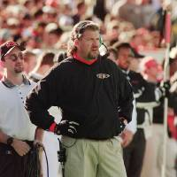 Photo - OSU football defensive coordinator Rob Ryan during game in 1998 season.  FOR FILES