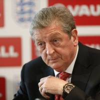 Photo - England's soccer manager Roy Hodgson announces the squad for the World Cup in Brazil in Luton, England, Monday, May 12, 2014. Hodgson has selected a World Cup squad containing several players unburdened by the team's past struggles, although Frank Lampard was among the veterans to still make the cut. The 35-year-old Lampard is the oldest player among the 23 that Hodgson is taking to Brazil, one of only six to have previously been to a World Cup.  (AP Photo/Sang Tan)