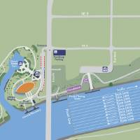 Photo - U.S. SPRINT CANOE / KAYAK OLYMPIC TRIALS / GRAPHIC: The map shows the racing area on the Oklahoma River.