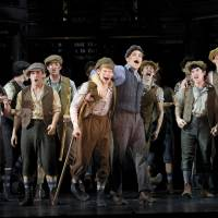 Photo -   In this theater image released by Disney Theatricals, the cast of The Paper Mill Playhouse Production of