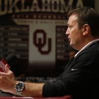 University of Oklahoma Sooners (OU) head football coach Bob Stoops holds a press conference on Wednesday, Feb. 4, 2015  in Norman, Okla. Photo by Steve Sisney, The Oklahoman