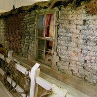 Photo - The McCully sod house can be seen in the Sod House Museum in Aline.  Photo provided