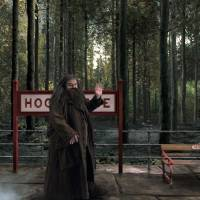 Photo - This image released by Universal Orlando shows the character Hagrid from the