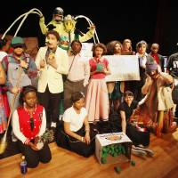 Photo - Cast members from the John Marshall High School speech and theater department performing  the production